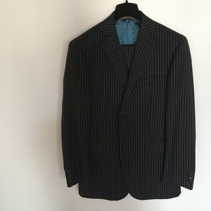 Other - Zanetti suit made in Italy blue pinstripes 40r